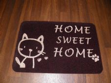 NON SLIP CAT DOORMATS 40X60CM RUBBER BACKING GOOD QUALITY ALL COLOURS BLACK/RED
